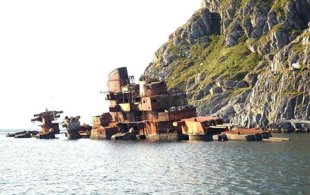 The wreck of the Murmansk