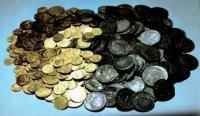 Load of gold and silver coins from The Pollux