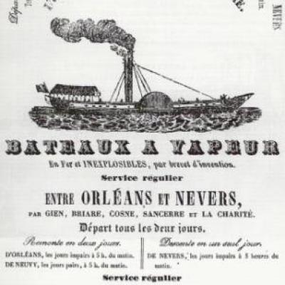 Annonce navire à vapeur
