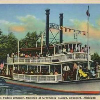 American paddle steamer
