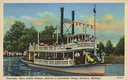 American paddle steamer