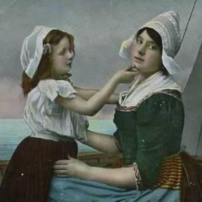 A Dutch woman and a child