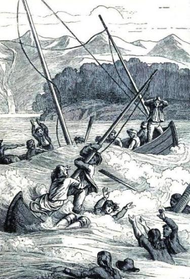 Shipwreck scene