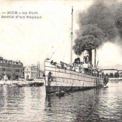 Steamer at Nice, France