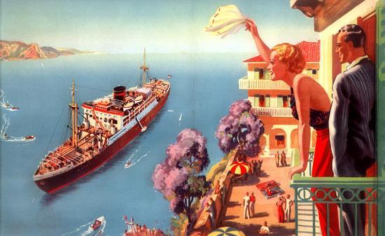 Liner postcard