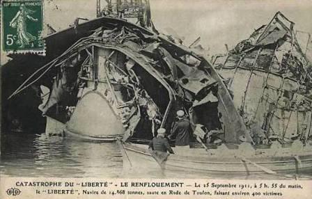 Liberté explosion in 1911