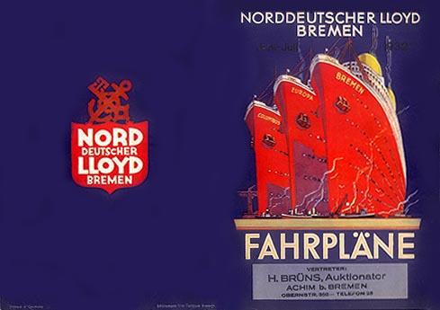 Norddeutscher Lloyd -Fahrplane