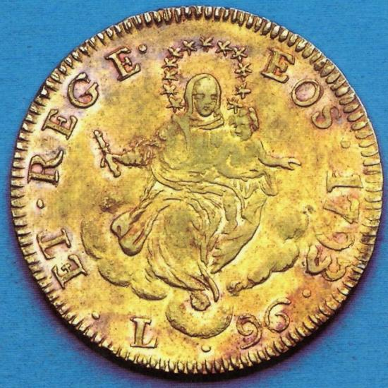 One of the gold coins recovered from the Pollux
