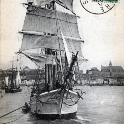 3masted fishing ship granvillaise
