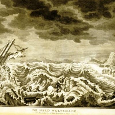 Ship lost in high seas