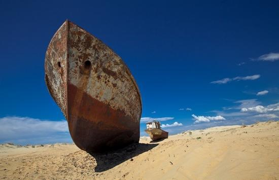 Ship on the sand