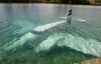 Plane underwater