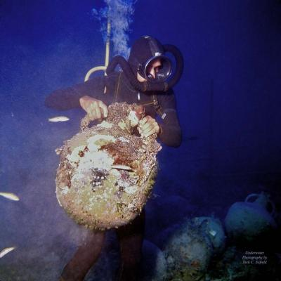 A diver at work...